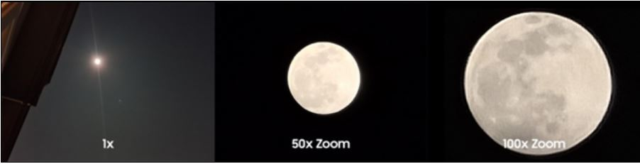 Samsung's official S20 Ultra shooting the moon: 100x zoom is amazing