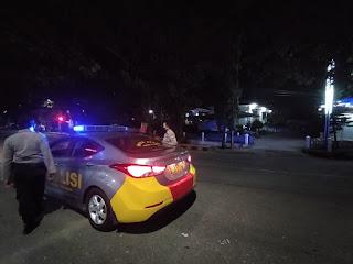 Cegah Gangguan Kamtibmas, Polsek Enrekang Laksanakan Blue Light