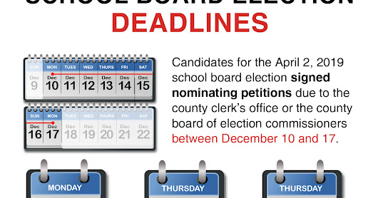 Reminder: School board candidate petitions due Monday, Dec. 17