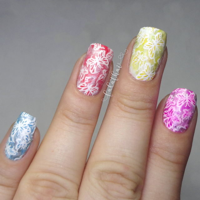 tutorial carimbada de borboletas coloridas