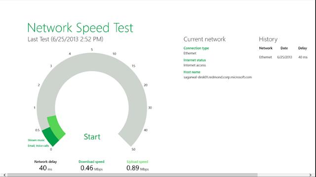 تحميل برنامج فحص سرعة النت للكمبيوتر ويندوز 10 Network Speed Test