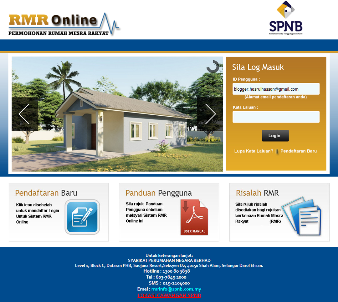 Permohonan Online Rumah Mesra Rakyat SPNB