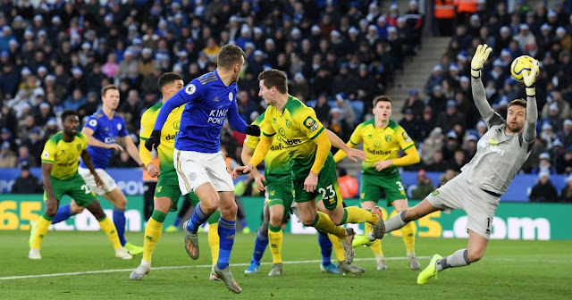 Norwich VS Leicester match on K24 TV EPL Maskani game photo
