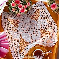 Square doily crochet filet