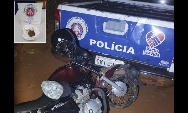 Motociclista embriagado é preso após bater em viatura da PM na Chapada Diamantina