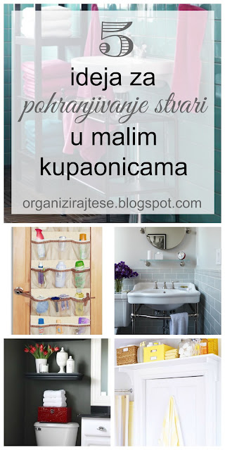 Pohranjivanje stvari u malim kupaonicama/Small bathrooms storage ideas