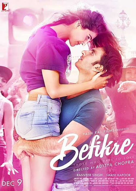 Befikre 2016 Hindi 720p BluRay 1.8GB Full Movie Free Download, Befikre 2016 Full Hindi Movie Download BRRip 720p ESub