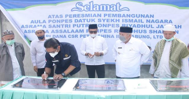 SKK Migas – PetroChina Jabung Serahkan Bantuan untuk Pondok Pesantren di Tanjung Jabung Barat