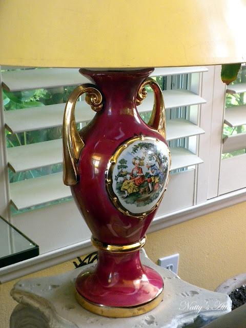 Vintage George Amp Martha Washington Lamp Picture Unique Arts