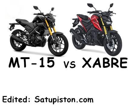 6 Perbedaan Yamaha MT 15 Vs Xabre, Pilih Mana ???