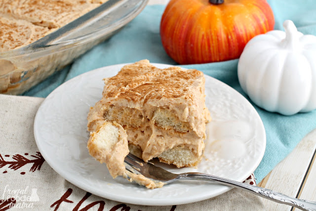 Combining the flavors of a creamy pumpkin latte & warm chai spices, this no-bake Pumpkin Chai Tiramisu is a must-make dessert for fall.