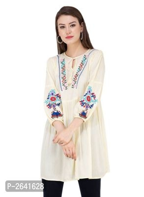 EMBROIDERED TUNIC TOPS