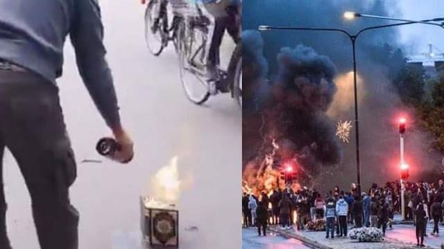 Protes Pembakaran Al-Quran oleh Ekstrimis Anti Islam di Swedia Berujung Rusuh