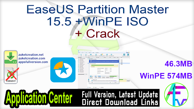 EaseUS Partition Master 15.5 +WinPE ISO + Crack