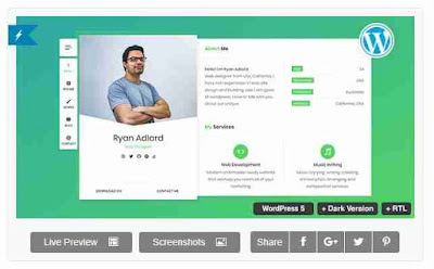 Download Theme Wordpress CV Resume