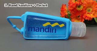 Hand Sanitizer + Pocket merupakan souvenir Rekomendasi Souvenir Yang Tepat Di Era New Normal