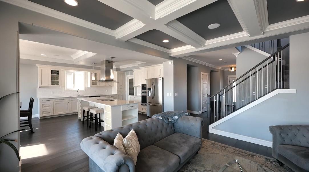 31 Interior Design Photos vs. 127 Mcdowell Wynd, Leduc, AB Home Tour