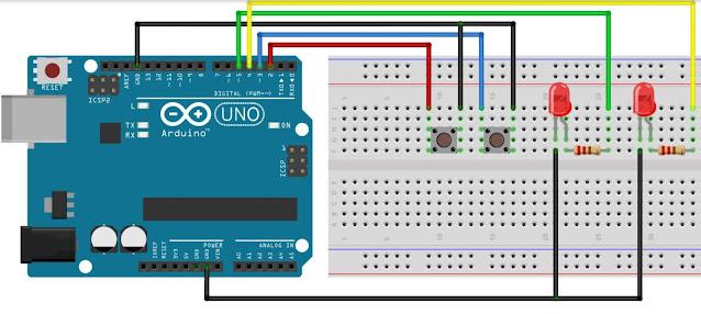 Rangkaian Pengendali dengan Arduino