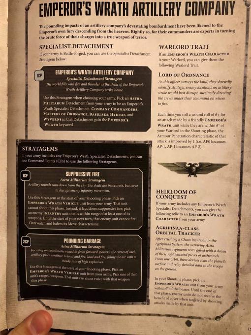 Emperor's Wrath Artillery Company