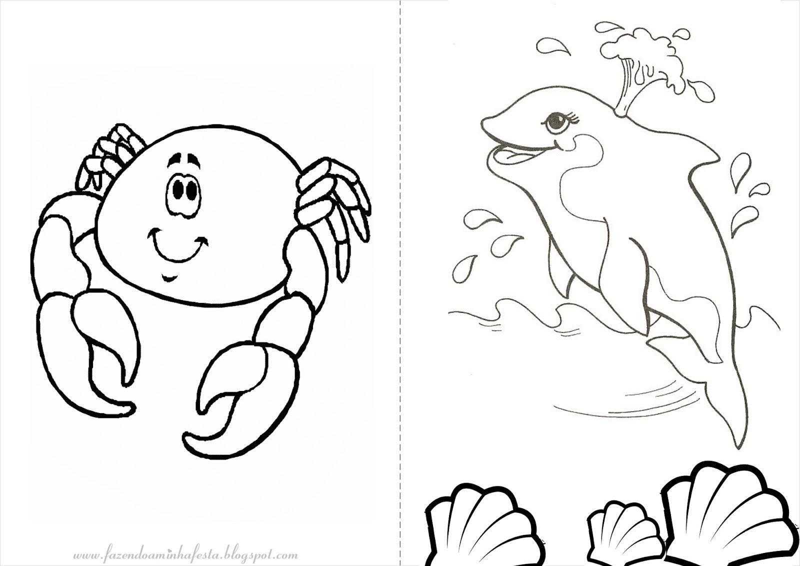 Desenhos Para Colorir Do Fundo Do Mar
