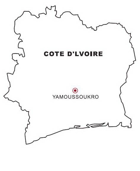 Mapa De Costa De Marfil Para Colorear Dibujo Views