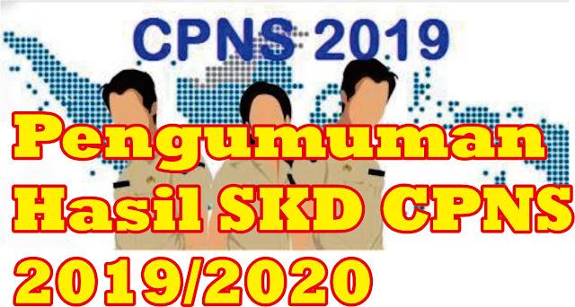 Pengumuman Hasil SKD CPNS Tahun 2019/2020