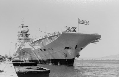 HMS Hermes moored Gibraltar