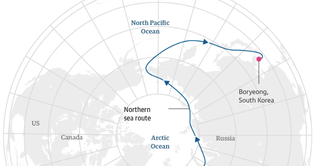 Geogarage Blog Russian Tanker Sails Through Arctic Without