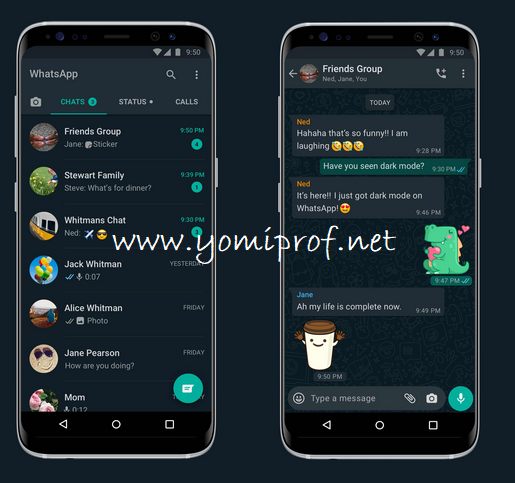 WhatsApp Dark Mode Now Available for Android, iOS Users Globally