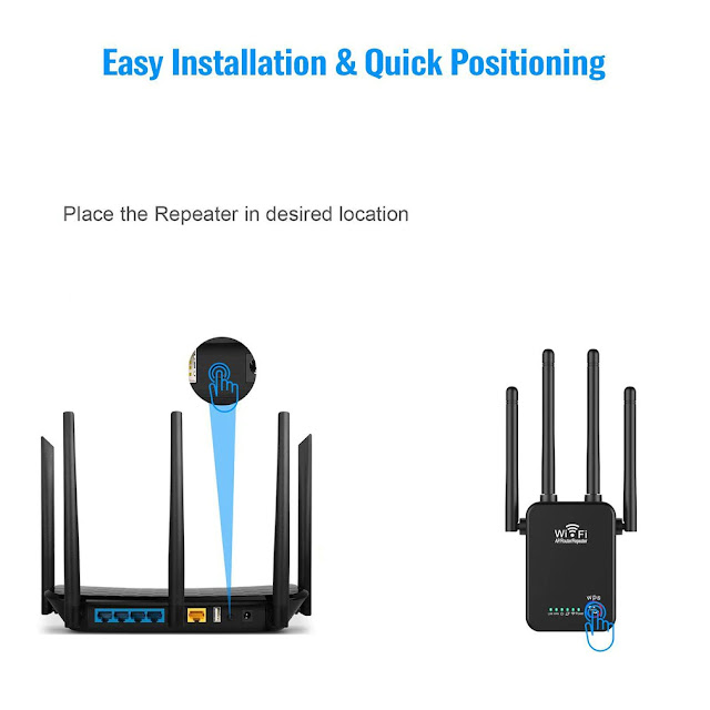 Wireless Router's Wifi Repeater 300Mbps 2.4g Dual-Band 4Antenna Wi-Fi Range Extender Signal Home Network Supplies