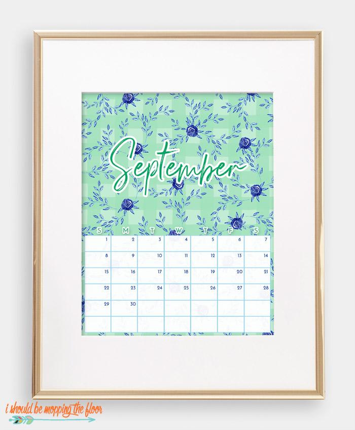 September Chinoiserie Calendar