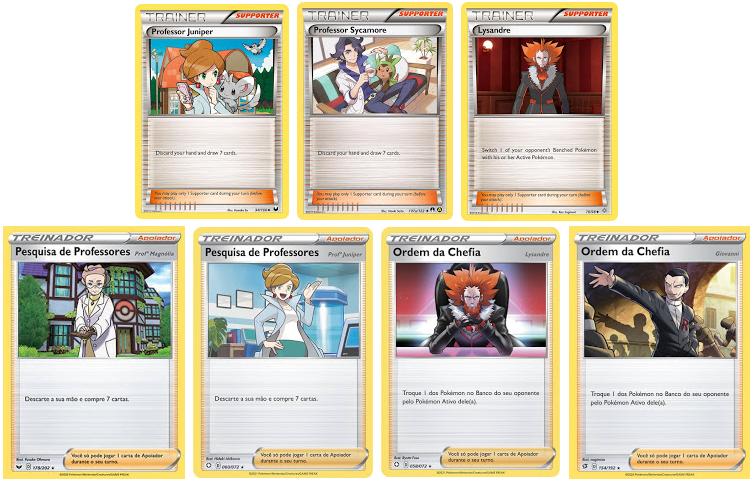Cartas Pokémon Professores