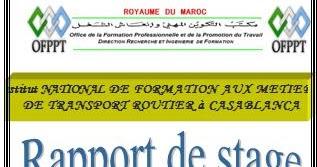 RAPPORT DE STAGE MECANIQUE AUTO VOLVO OFPPT Rapport De
