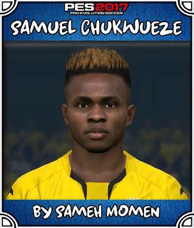 PES 2017 Faces Samuel Chukwueze by Sameh Momen