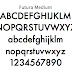 幾何学的で美しい書体「Futura(フーツラ)」