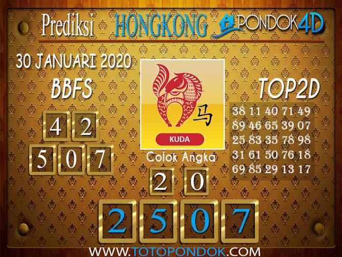 Prediksi Togel HONGKONG PONDOK4D 30 JANUARI 2020
