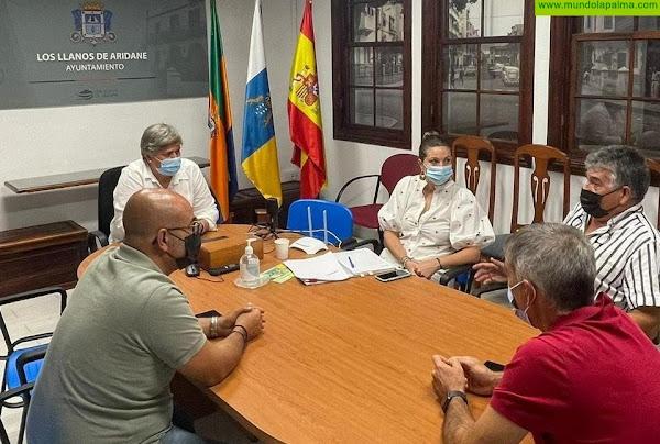 García Leal se reúne con ASPA La Palma para valorar los daños ocasionados por el incendio y las altas temperaturas