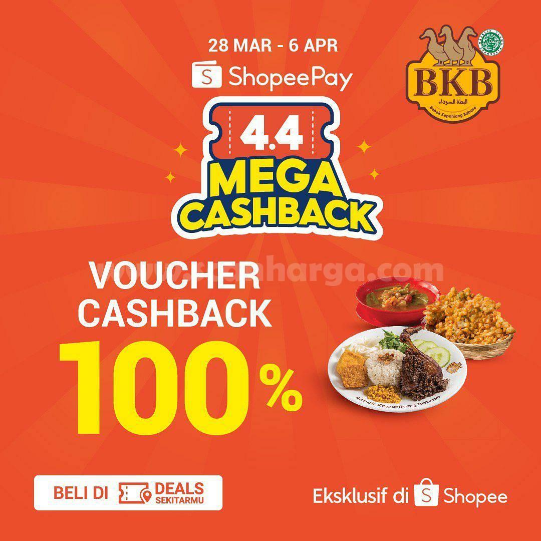 Promo BEBEK BKB Voucher Deals SHOPEEPAY 4.4 MEGA CASHBACK 100%