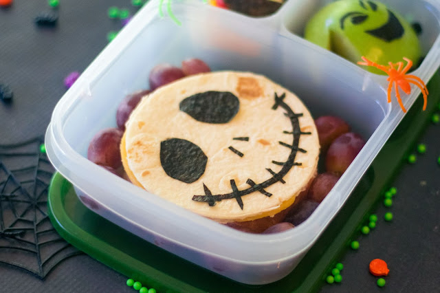 The Nightmare Before Christmas Jack Skellington Quesadilla School Lunch Recipe
