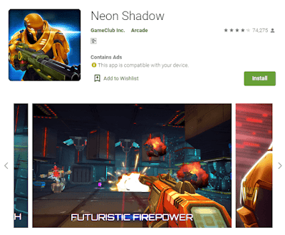 game neon shadow android