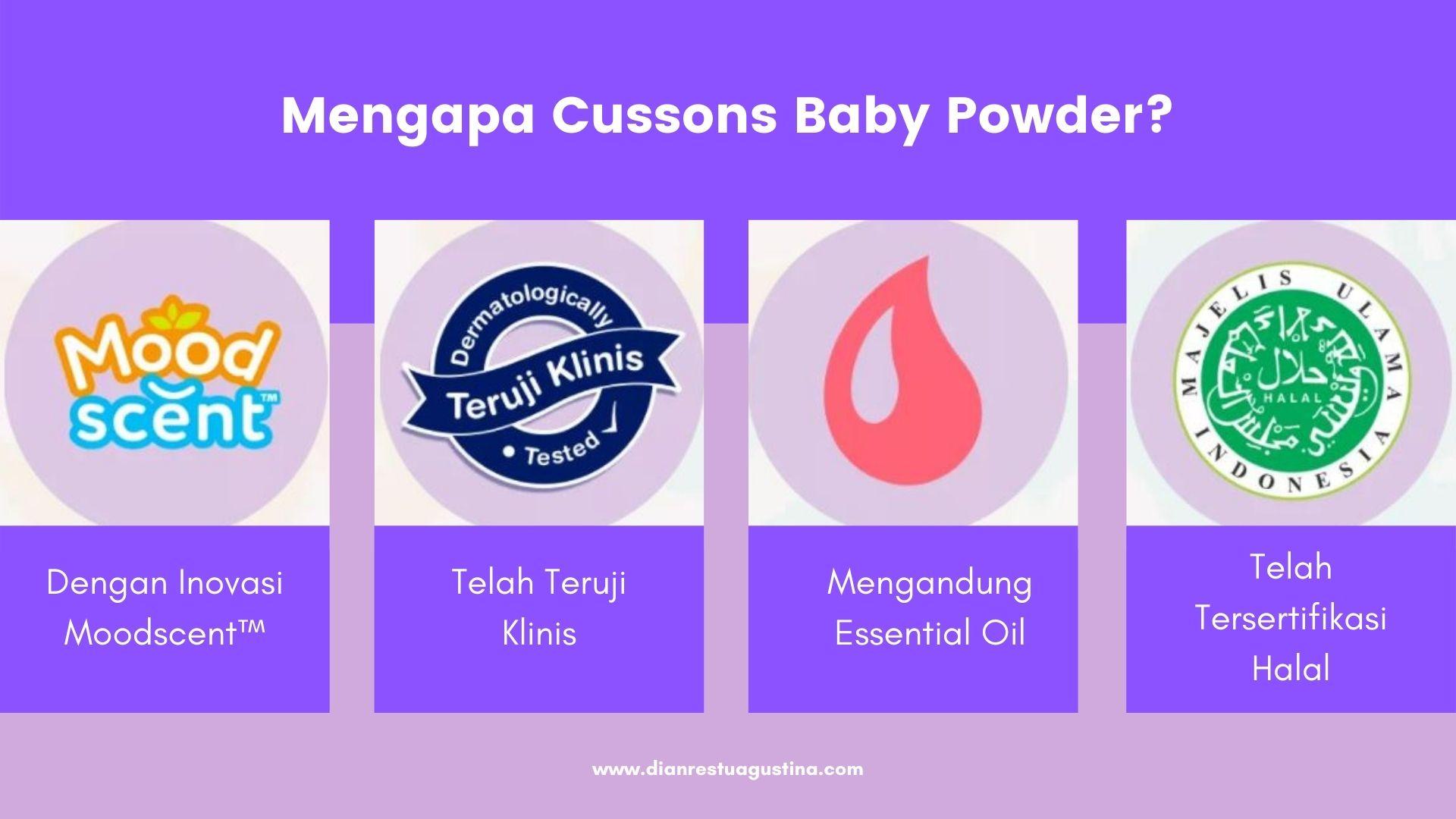 Mengapa Cussons Baby Powder?