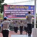 Polres Bintan gelar Apel Kesiapan Bhabinkamtibmas dan Tenaga Kesehatan sebagai Tracer dan Vaksinator Covid-19
