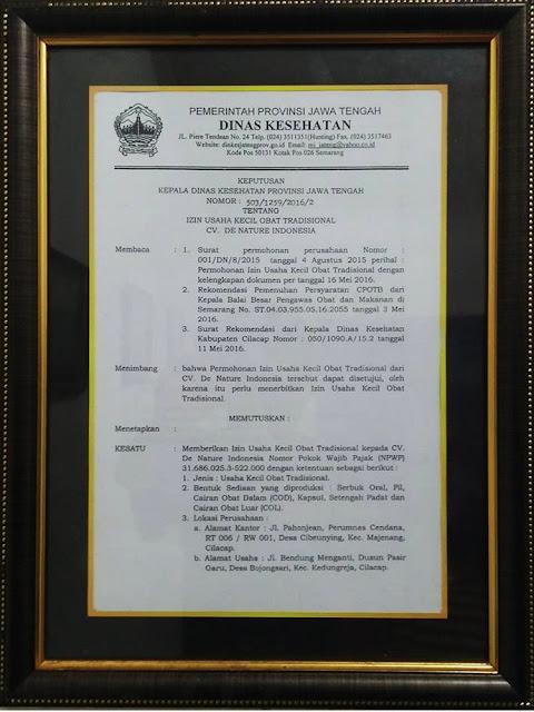 Surat Dinas Kesehatan Jawa Tengah