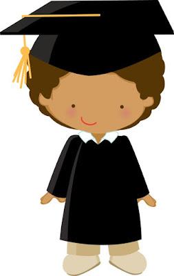 niño de graduación para imprimir