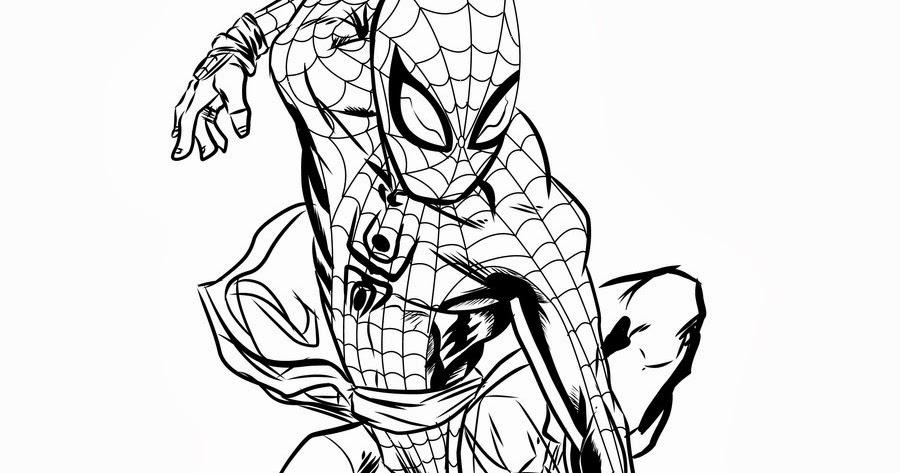 Originale Disegno Da Colorare Di Spiderman: Giochi Da Colorare Spiderman