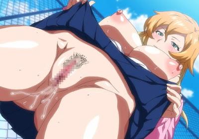 chica alzando su falda para mostrar su vagina en azotea de colegio
