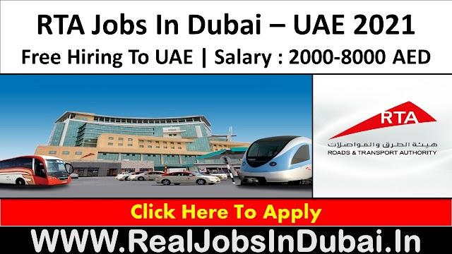 RTA Careers Jobs Vacancies In Dubai - UAE 2021