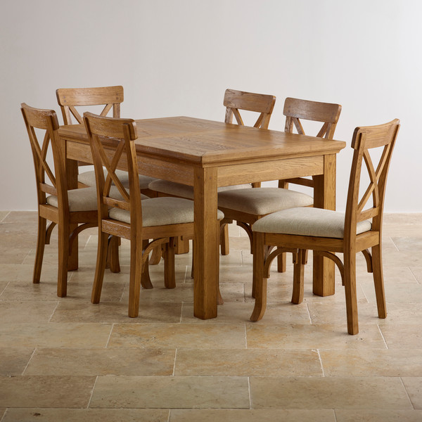 kitchen table and chairs in oak