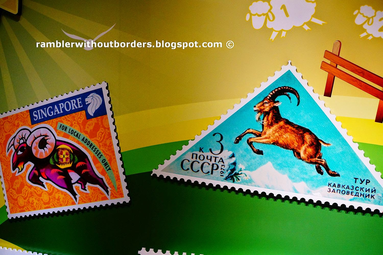 stamps with goats, Singapore Philatelic Museum