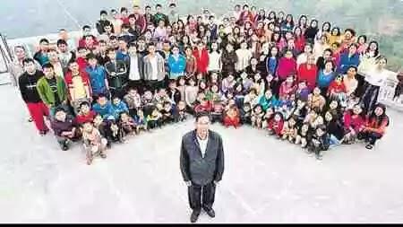Ziona Chana world's largest family